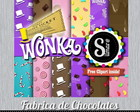 Kit Digital A Fantástica Fábrica de CHocolates 1 - Scrap