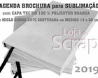 kit Sublimação agenda 2019 brochura sublimatica poliester