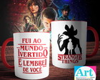Caneca Serie Stranger Things -Fui ao Mundo Invertido