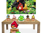 Kit 6 Display Enfeites Totem de Festa Angry Birds Combo