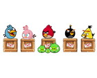 Kit 5 Display Enfeites Totem de Festa Angry Birds Combo