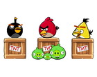Kit 3 Display Enfeites Totem de Festa Angry Birds Combo