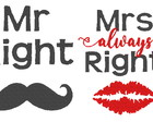 Matriz de bordado Casamento - Mrs Right 3