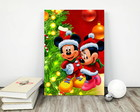 "Placa decorativa MDF ""Natal Michey & Minnie"""