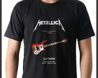 Camiseta Rock Metallica Baixo Rickenbacker 4003 Cliff Burton