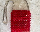 Beaded Bag / bolsa de contas facetadas vermelha