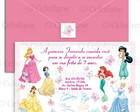 Convite As Princesas Disney