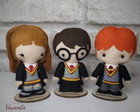 Trio Personagens Harry Potter feltro