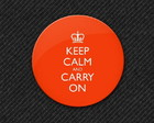Botton Keep Calm and Carry On (vermelho)