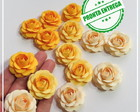 Mini Rosa DEGRADE AMARELO (15 uni)