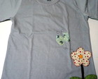 Camiseta Flor e Borboleta Patch Aplique