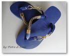 Havaiana Blue in gold