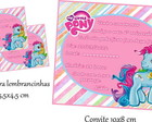 Convite + tag do My Little Pony