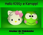 Chapeu EVA Hello Kitty e Keroppi