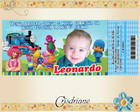 Convite Ingresso Discovery Kids