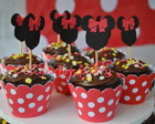 Topper para cupcake Minnie ou Mickey