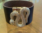 BRACELETE MARRON COBRA