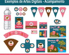 Arte Festa Digital - Acampamento Girl