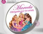Festa Barbie Princesas (Rótulos e Tags)