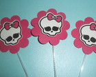TOTENS PARA CUPCAKE- MONSTER HIGH