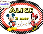 Arte Elipse- Mickey Minnie