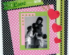 Quadro de scrapbooking: Tema Love Mom