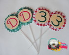 Topper para Doces/Cupcakes -Pizza Party