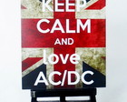 MINI POSTER - KEEP CALM AND LOVE AC/DC