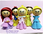 Kit c/ 5 Ponteiras Princesas da Disney
