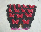 aplique minnie (10 unidades)
