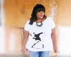 T-shirt Plus Size Banksy