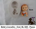 Molde Silicone Biscuit Bebe chocalho