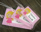Kit 3 Bagtags - Princesinha Bela
