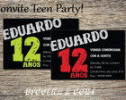 Convite Teen Party Boy Clean