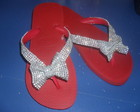 Havaiana top customizada com Strass