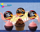 Topper para cupcake Hot Wheels