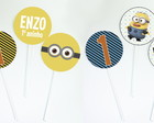 Mini Topper para doces - Minions