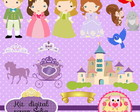 Kit de Scrap Digital princesa Sofia