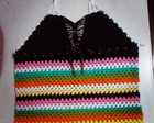 blusa de croche colorida