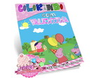 Kit Colorir Peppa Pig + Giz de Cera