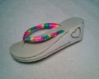 Havaiana High com fita colorida
