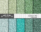 Kit Papel Digital Glitter 4