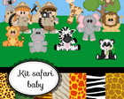 Kit de scrap digital Safari baby