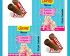 Rotulo Chocolate Baton Barbie Secreta