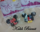Chaveiro de biscuit Minnie e Mickey