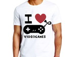 Camiseta gamer i Love videogames