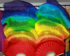 FAN VEU LEQUE DEGRADE ARCO IRIS 7 CORES