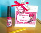 Kit Manicure Minnie Rosa