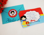 Kit 10x7 - Convite + envelope + tag