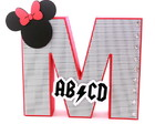 Letra 3D GRANDE 20cm Minnie Rock